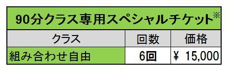 90分スペシャルチケット